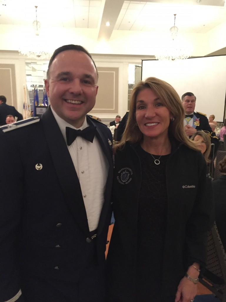 Protect Sudbury Director, and head of the Protect Sudbury Legal Action Team, Chris Hamilton, shares a moment and a smile with Massachusetts State Lt. Governor Karyn Polito at the Governors Ball.