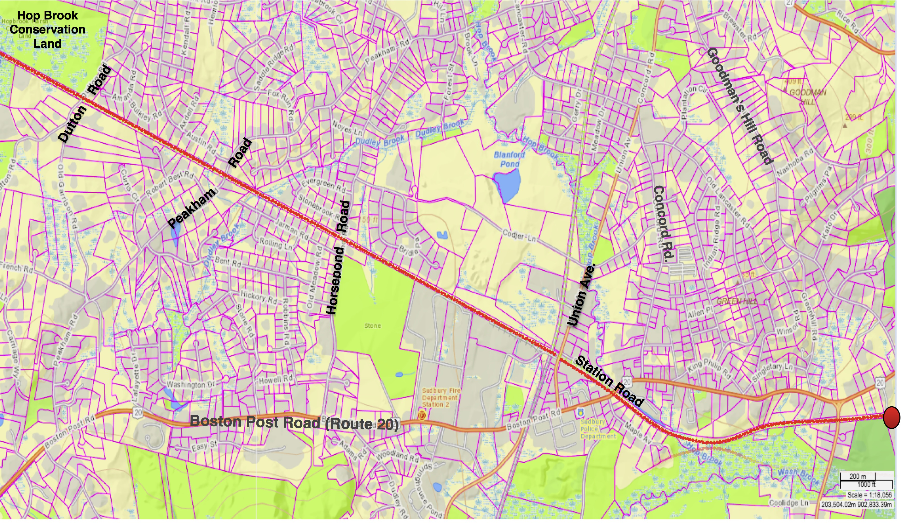 transmission line map with crossings